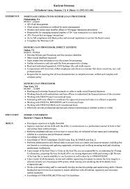 Senior Loan Processor Resume Samples Velvet Jobs