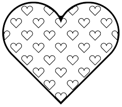 Coloring Pages Of A Heart Heart Shape Coloring Page Love Heart