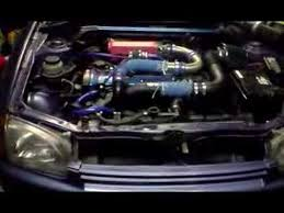 1996 Toyota Starlet Sportif 4efe Turbo conversion 1st fire - YouTube
