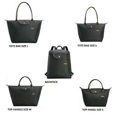 Details About Auth Longchamp Le Pliage Club Horse Embroidery Tote Top Handle Backpack Gunmetal