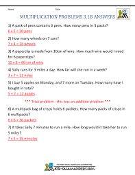 3rd Grade Math Word Problems Printable Worksheets. Math Worksheets ...