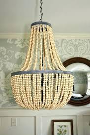 diy wooden bead chandelier home diy wood beads chandelier