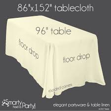 Tablecloth Size Guide Banquet Tables Tablecloth Sizes