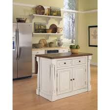 Home Styles Monarch White Kitchen Island With Drop Leaf Backplates