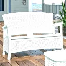 white outdoor storage bench white outdoor storage bench resin wicker elements furniture wing outdoor wicker storage bench by christopher knight home