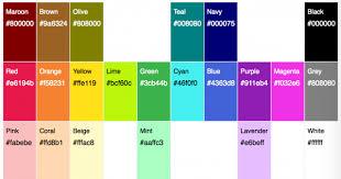 Rgba Color Chart List Of 20 Simple Distinct Colors Sasha Trubetskoy