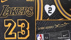 Los angeles lakers, los angeles, ca. Lakers News Closer Look At Kobe Bryant Black Mamba Jersey