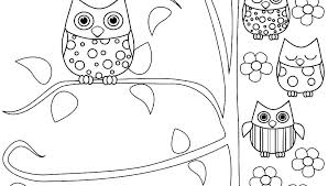 Baby Owl Coloring Pages To Print Owl Coloring Pages For Kids Baby