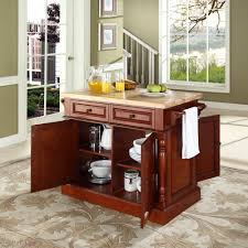 Butcher Block Kitchen Island Crosley Butcher Block Kitchen Island By Oj Commerce Kf30006bk