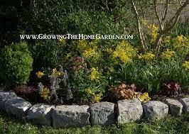 natural rocks for stone garden borders