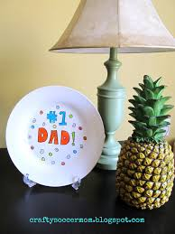 Crafty Soccer Mom Diy Fathers Day Plate