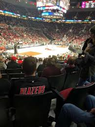 Moda Center Section 116 Home Of Portland Trail Blazers
