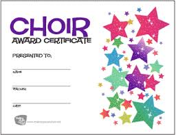 Choir Certificate Template Free Music Award Certificates Band Orchestra And Choir
