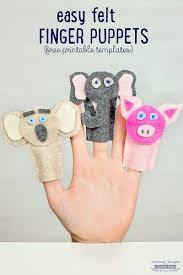 how to make felt finger puppets crafts for kids