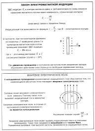 Справочник по физике Магнитное поле Закон электромагнитной  Магнитное поле Закон электромагнитной индукции вихревое электрическое поле