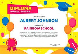 Preschool Graduation Certificate Editable Editable Quarterly Awards Certificate Template Kindergarten