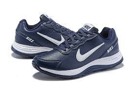nike lunarglide 4 men s leather running shoes dark blue