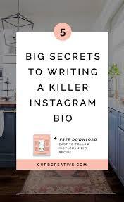 5 BIG SECRETS TO WRITING A KILLER ESTATE INSTAGRAM BIO — Curb Creative