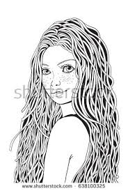 Small Picture Coloring Pages Of Girl With Long Hair Coloring Pages