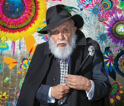 james randi in front of a painting done by his partner the artist josé alvarez credit jeff minton for the new york times
