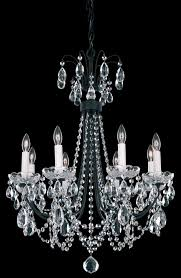 schonbek lu0002n 48h lucia 8 light crystal chandelier in antique silver with clear heritage crystal