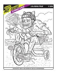Free coloring sheets coloring pages to print coloring book pages printable coloring pages coloring pages for kids zombie birthday parties plants vs. Art With Edge Zombie Daze Coloring Page Crayola Com