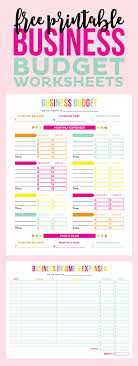 Free Printable Business Plan FREE Printable Business Budget Worksheets Printable Crush 1