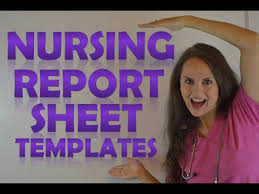 Nursing Shift Report Sheet Templates How To Give A Nursing Shift