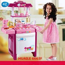 kids simulation kitchen toys children play toys baby kitchen toys set with light sound pink and red baby gifts new arrival whole high qual