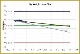 Weight Loss Spreadsheet Template Excel Chart Free Documents