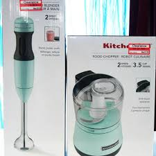 Kitchen Aid Ice Blue Kitchenaid Ice Blue Submersion Blender Food Chopper