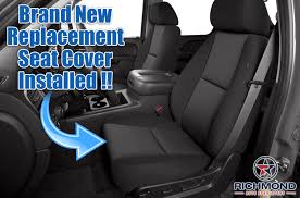 2007 2016 chevy avalanche ls lt z71 cloth seat cover driver bottom black