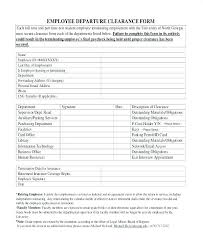 Employee Clearance Form Interesting Exit Interview Template Deixardefumar