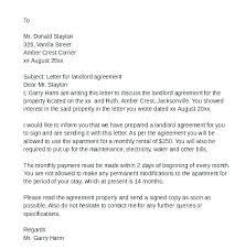 Rent Agreement Letter Shared Housing Rental Letter Agreement Example