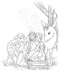 Small Picture Coloring Pages Coloring Sheet Printable For Nativity Christmas