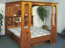 Waterbed Grand Universal Canopy Only-No Bed Q, Queen Pine Waterbeds ...