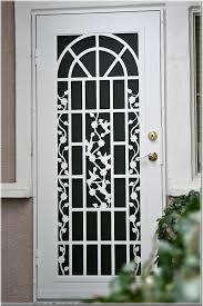 security screen doors. AtoZScreens-SacramentoCA-TitanWhiteDoor Security Screen Doors