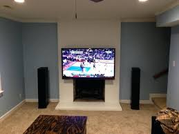 mounting tv above fireplace over ray forum within mount decorating no studs