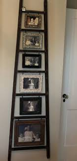 old ladder photo display turn an old ladder into a creative photo display with hanging