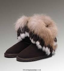 ... purchase f4861 cb414 UGG Fox Fur Tall 1984 Chocolate Boots DC297038  1086-Q ...