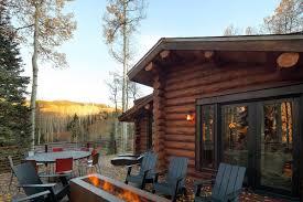 log cabin outdoor furniture patio. contemporary log cabins interiors outdoor fireplace modern cabin in telluride colorado furniture patio