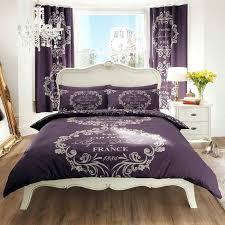parisian duvet covers script duvet cover set purple paris quilt covers australia