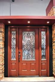 stained fiberglass front door arbor grove collection stained fiberglass entry door with decorative glass and sidelights