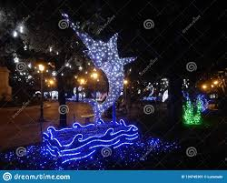 Fish Christmas Lights Salerno Swordfish Of Lights In The Villa Editorial Photo
