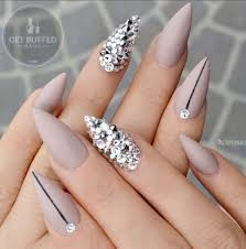 Pointy Nails Designs With Diamonds Pin On Nail Design