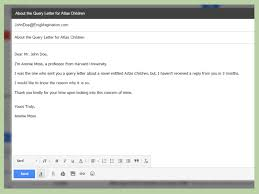 Query Letter Format How To Write A Query Letter 15 Steps With Pictures Wikihow