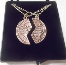 ems mizpah prayer necklace set father
