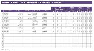 Sample Attendance Tracking Beauteous Excel Vacation Calendar Leave Template Attendance Tracking Employee