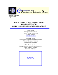 pdf structural equation modeling a second generation multivariate ysis
