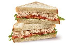 Tuna Salad Sliced Bread Sandwich Bistro Deli